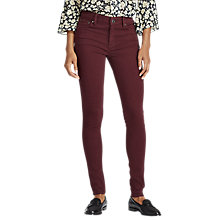 Buy Lauren Ralph Lauren Premier Skinny Jeans, Autumn Wine Online at johnlewis.com