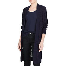Buy Lauren Ralph Lauren Joby Long Sleeve Cardigan, Royal Navy Online at johnlewis.com
