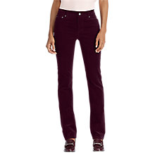 Buy Lauren Ralph Lauren Straight Skinny Trousers, Red Sangria Online at johnlewis.com