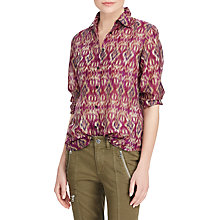 Buy Lauren Ralph Lauren Ikat Print Voile Shirt, Multi Online at johnlewis.com