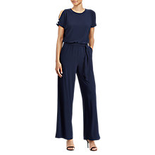 Buy Lauren Ralph Lauren Sancia Jumpsuit, Navy Online at johnlewis.com