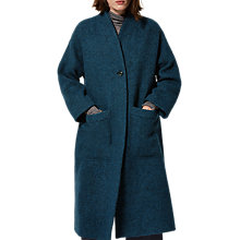 Buy Toast Alpaca Twill Coat, Teal Online at johnlewis.com
