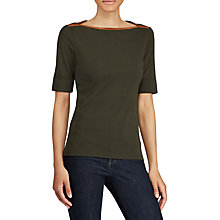 Buy Lauren Ralph Lauren Xevan T-Shirt, Deep Forest Green Online at johnlewis.com