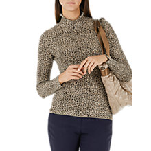 Buy Marc Cain Leopard Print Jumper, Hazelnut Online at johnlewis.com