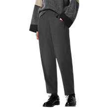 Buy Toast Wool Cotton Pull On Trousers, Charcoal Online at johnlewis.com
