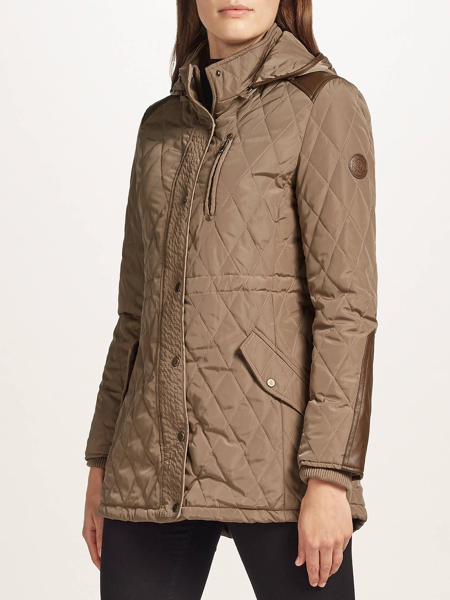506eef42b82a Buy Lauren Ralph Lauren Quilted Coat, Bridle, M Online at johnlewis.com ...