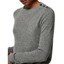 Buy Toast Long Sleeve Button Detail Jumper, Flannel Grey Online at johnlewis.com