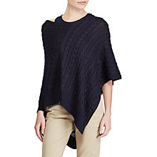 Buy Lauren Ralph Lauren Bigley Poncho, Royal Navy Online at johnlewis.com