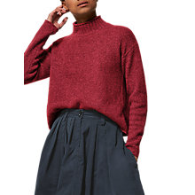 Buy Toast Merino Wool Roll Neck Jumper, Cranberry Online at johnlewis.com