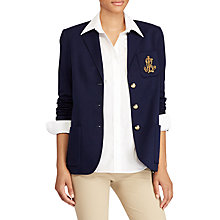 Buy Lauren Ralph Lauren Desislava Bullion Crest Sweater Blazer, Navy Online at johnlewis.com