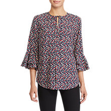 Buy Lauren Ralph Lauren Geometric Crepe Top, Multi Online at johnlewis.com