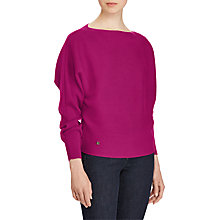 Buy Lauren Ralph Lauren Dolman Jumper, Berry Jam Online at johnlewis.com