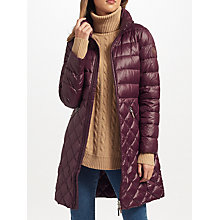 Buy Lauren Ralph Lauren Quilted Full Zip Coat, Burgundy Online at johnlewis.com