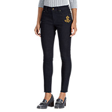 Buy Lauren Ralph Lauren Premier Skinny Cropped Jeans, Midnight Haze Wash Online at johnlewis.com