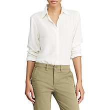 Buy Lauren Ralph Lauren Kristy Blouse, Herbal Milk Online at johnlewis.com