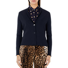 Buy Marc Cain Lightweight Flounce Blazer, Midnight Blue Online at johnlewis.com