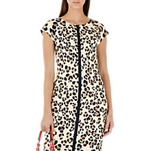 Buy Marc Cain Leopard Print Dress, Sandshell Online at johnlewis.com