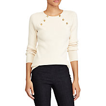 Buy Lauren Ralph Lauren Zayne Long Sleeve Jumper, Neutral Online at johnlewis.com