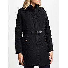 Buy Lauren Ralph Lauren Down Fill Quilted Coat, Black Online at johnlewis.com