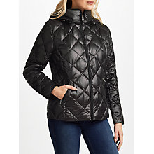 Buy Lauren Ralph Lauren Short Quilted Coat, Black Online at johnlewis.com