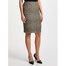 Buy Marc Cain Jacquard Printed Midi Skirt, Hazelnut Online at johnlewis.com