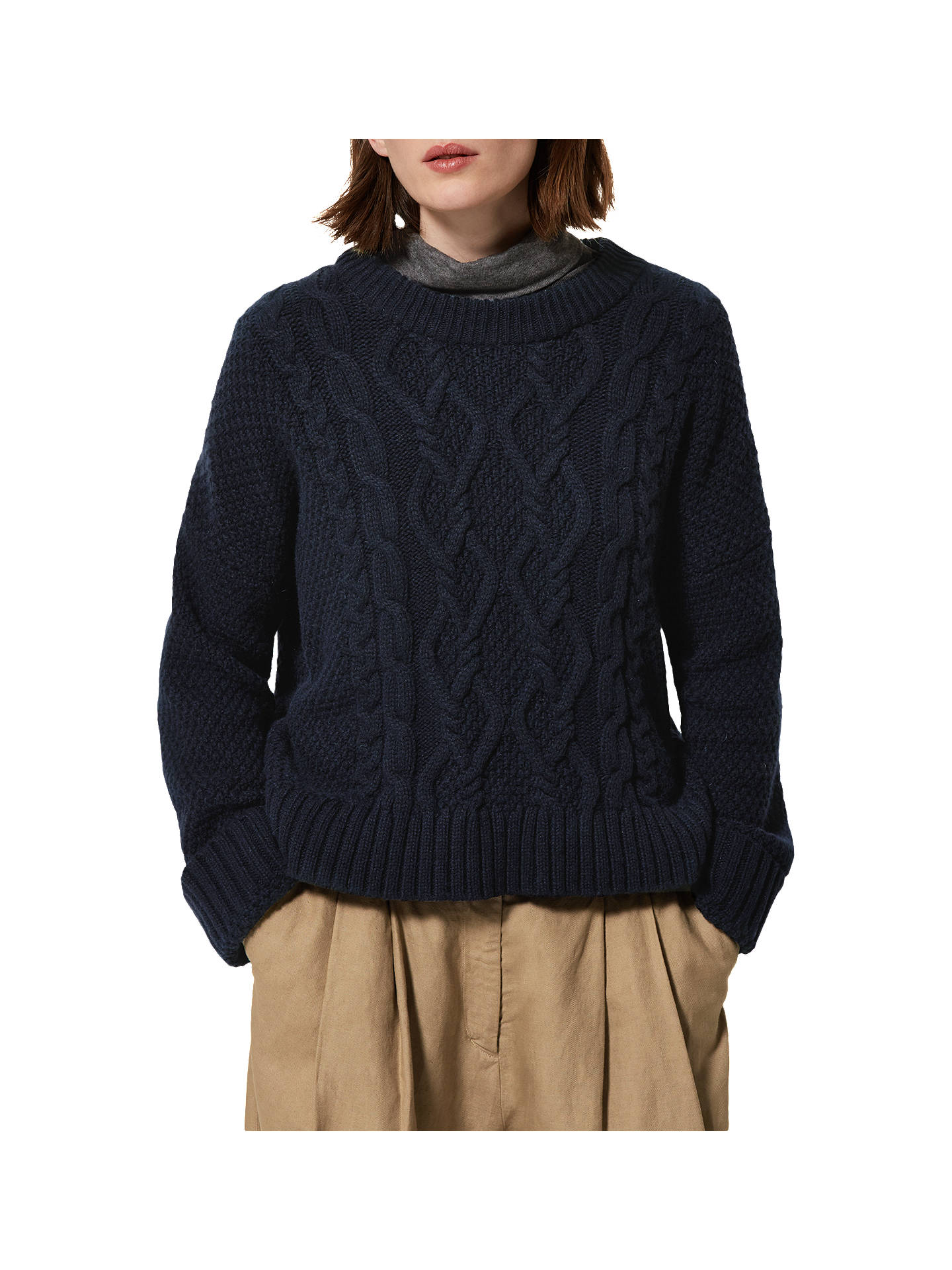 e57c0f60c034 Toast Chunky Cable Knitted Jumper
