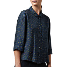 Buy Toast Dayu Print PJ Silk Shirt, Cobalt/Harvest Gold Online at johnlewis.com