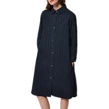 Buy Toast Striped Denim Shirt Dress, Indigo Online at johnlewis.com