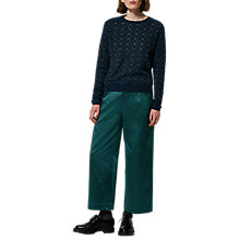 Buy Toast Metallic Knit Jumper, Dark Navy Online at johnlewis.com