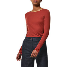 Buy Toast Long Sleeve Fine Wool Top, Rust Online at johnlewis.com