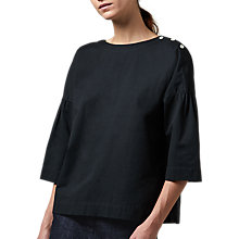 Buy Toast Gathered Sleeve Shirt, Dark Navy Online at johnlewis.com