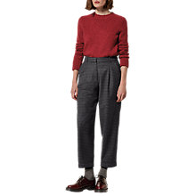 Buy Toast Gingham Wool Trousers, Dark Navy/Charcoal Online at johnlewis.com