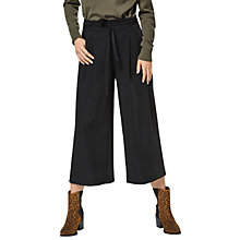 Buy Selected Femme Cropped Wide Leg Trousers, Black Online at johnlewis.com