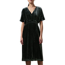Buy Toast Velvet V-Neck Dress, Slate Online at johnlewis.com