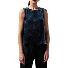 Buy Toast Silk Velvet Tank Top, Blue Dusk Online at johnlewis.com