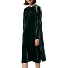 Buy Toast Silk Velvet Dress, Green Online at johnlewis.com
