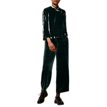 Buy Toast Silk Velvet Trousers, Slate Online at johnlewis.com