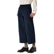 Buy Toast Cropped Corduroy Straight Leg Trousers, Navy Online at johnlewis.com