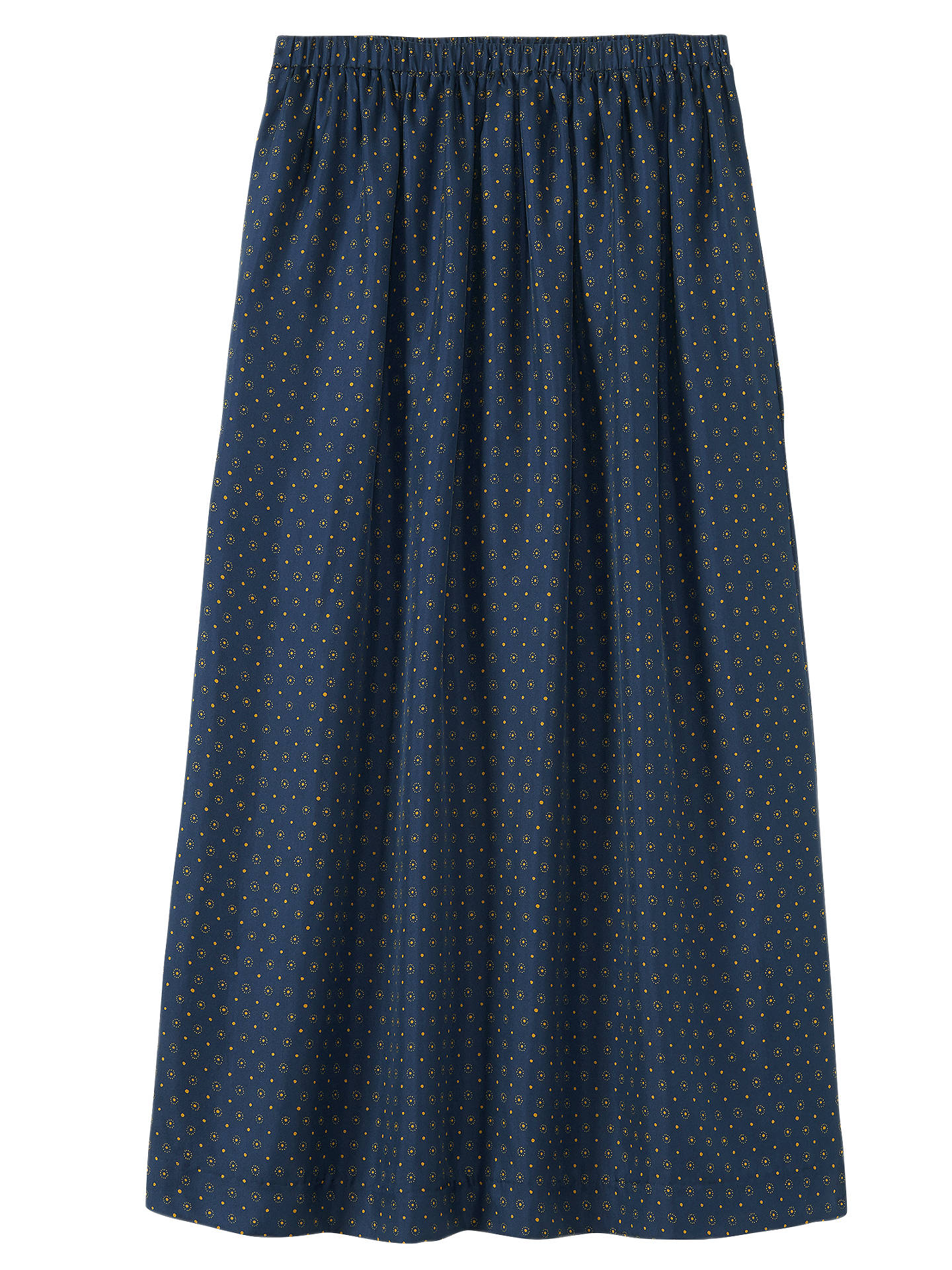 BuyToast Dayu Flared Midi Skirt, Cobalt / Harvest Gold, 8 Online at johnlewis.com