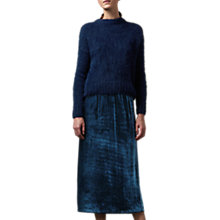 Buy Toast Silk Velvet Skirt, Blue Dusk Online at johnlewis.com