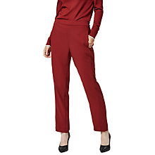 Buy Selected Femme Jane Straight Leg Trousers, Syrah Online at johnlewis.com