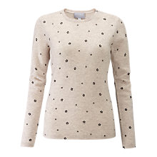 Buy Pure Collection Crew Neck Cashmere Jumper, Star Print Online at johnlewis.com