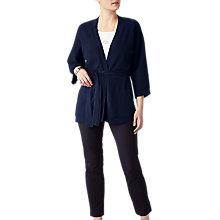 Buy Pure Collection Kimono Cardigan, Navy Online at johnlewis.com