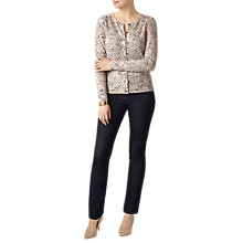 Buy Pure Collection Crew Neck Cashmere Cardigan, Leopard Print Online at johnlewis.com