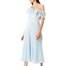 Buy Coast Melinda Pleat Jumpsuit, Pale Blue Online at johnlewis.com