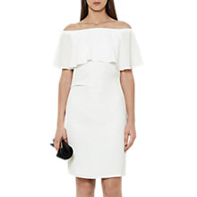 Buy Reiss Off The Shoulder Dress, White Online at johnlewis.com