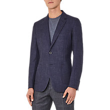 Buy Reiss Eldo Mottled Weave Blazer, Indigo Online at johnlewis.com