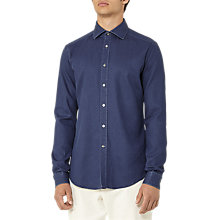 Buy Reiss Denny Chambray Slim Fit Shirt, Indigo Online at johnlewis.com