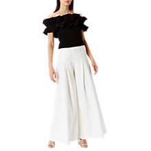 Buy Coast Denver Ruffle Bardot Top, Black Online at johnlewis.com