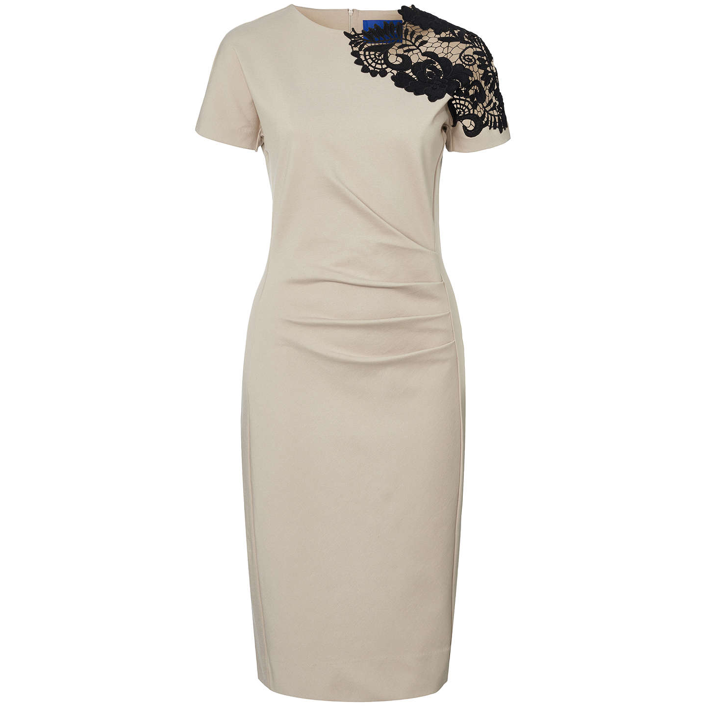 BuyWinser London Guipure Lace Miracle Dress, Stone, 6 Online at johnlewis.com